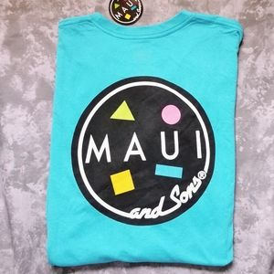 Maui and Sons men's cookie logo tshirt